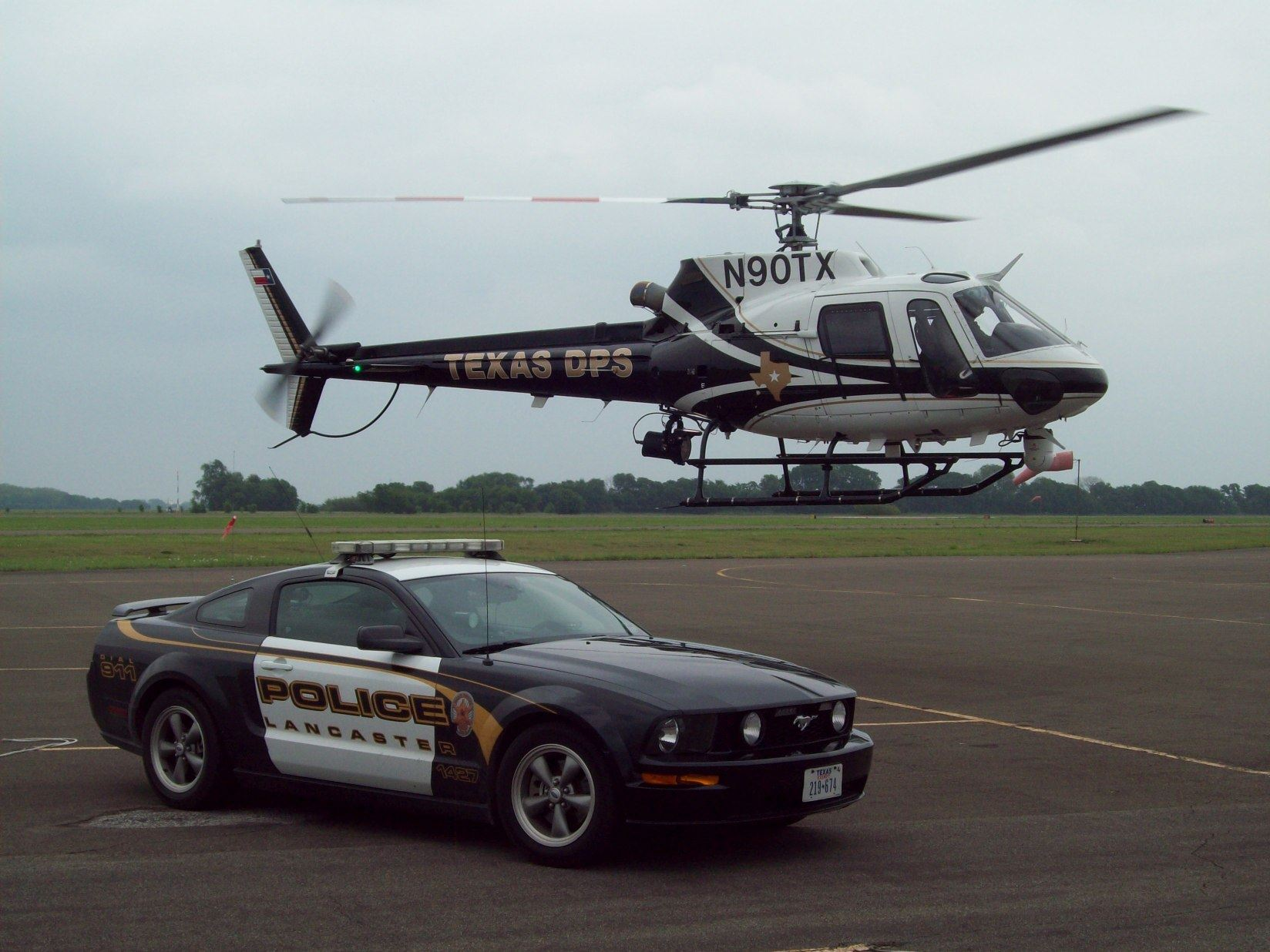 LPD Helicopter and Mustang
