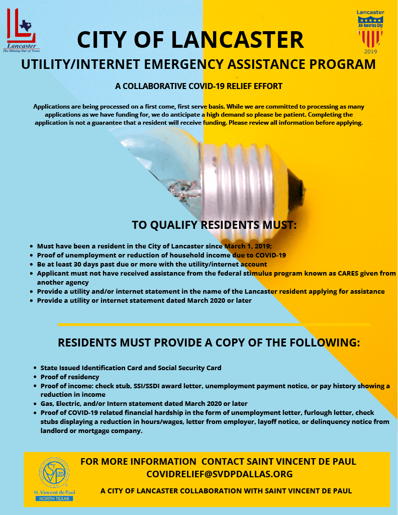 COL UTILITY ASSISTANCE PROGRAM FLYER
