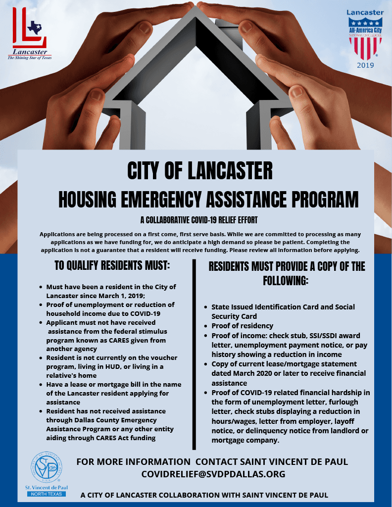 COL HOUSING ASSISTANCE FLYER